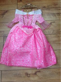 Princess Aurora Disney Sleeping Beauty Complete Costume Dress Up Age 7/8 years