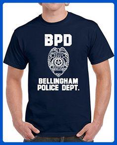 b005e4f2e Bellingham Police Department Dept BPD officer Inspired Custom City Unisex T- shirt L Navy -