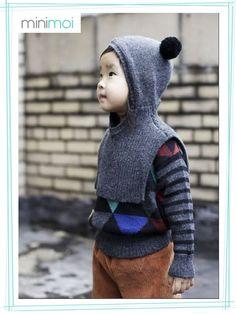 gorro con chalina para niños - Buscar con Google