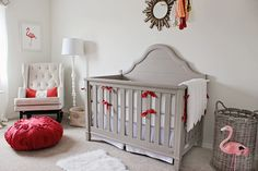 Fun, modern nursery with flamingo accents - #projectnursery