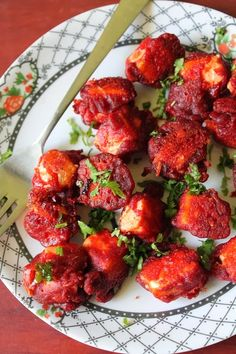 YUMMY TUMMY: Paneer 65 Recipe / Spiced & Fried Indian Cottage Cheese Cubes