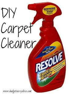 How to Make Your Own Carpet Cleaner - So Easy!!!