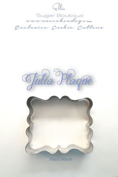 Julia Cookie Cutter   available at  https://www.etsy.com/listing/188288627/french-julia-plaque-cookie-cutter
