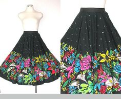 Vintage 50s Circle Skirt / 50s Skirt / Sequin by DeannesVintage