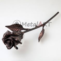 Hand Forged Rose, 7th anniversary gift, Wedding Gift, Engagement Gift, Forever Rose, Metal Sculpture, Steel Rose, Iron Rose, Metal Rose