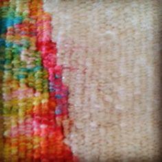 Detail. #geelongtapestryweaver #craftcubed #craftvictoria #boomgallery #rachelhine #woventapestry