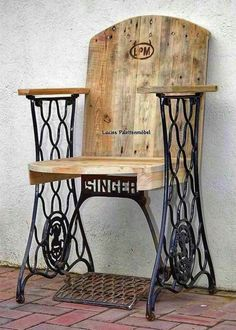 Made from sewing machine base and pallet