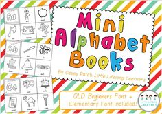 Use these mini alphabet books to revise new letters and sounds in the Prep or Foundation classroom.