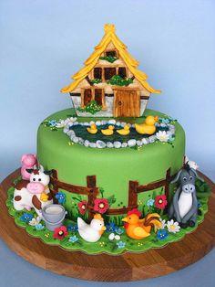 Old MacDonald's farm cake