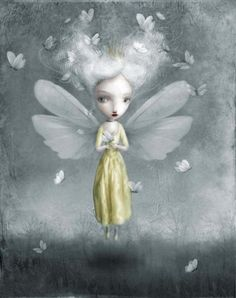 ≍ Nature's Fairy Nymphs ≍ magical elves, sprites, pixies and winged woodland faeries - Nicoletta Ceccoli Art And Illustration, Fantasy Kunst, Fantasy Art, Art Fantaisiste, Mark Ryden, Enchanted Doll, Fairy Art, Whimsical Art, Surreal Art