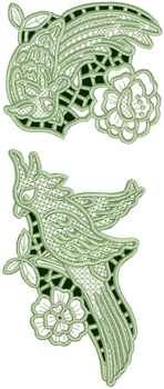 Parrot Lace Set