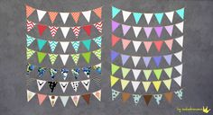 My Sims 4 Blog: Paper Garlands by Inabadromance