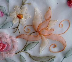 """https://flic.kr/p/dgCvCi   77   This is shadow work done on organdy..A close up of embroidered flower. Used cotton thread.  This is shadow work done on organdy.. Used cotton thread.  U can get it from <a href=""""http://www.etsy.com/listing/163571507/shadow-work-embroidery-15-.."""" rel=""""nofollow"""">www.etsy.com/listing/163571507/shadow-work-embroidery-15-..</a>.  or  <a href=""""http://www.etsy.com/shop/deelliiee"""" rel=""""nofollow"""">www.etsy.com/shop/deelliiee</a>"""