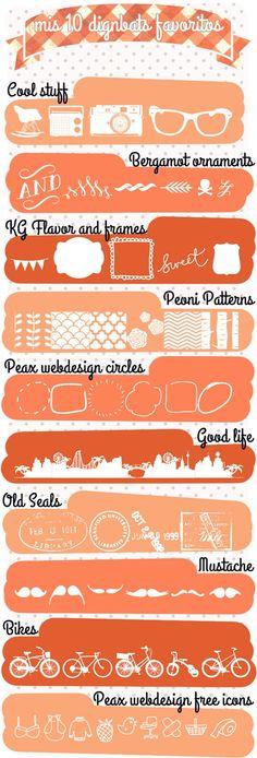 10 Dingbat Favorites ~~ {10 free dingbat fonts w/ links}
