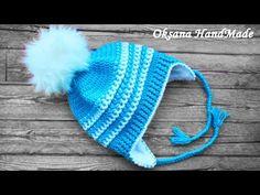 Шапка крючком с подкладкой из флиса. Мастер класс+схема. Crochet hat - YouTube