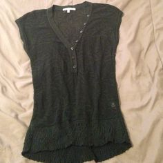 Green mesh adorable top Super cute, makes any outfit Charlotte Russe Tops