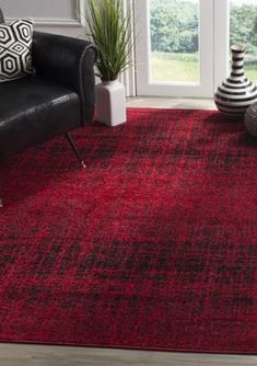 Trent Austin Design Costa Mesa Red/Black Area Rug Rug Size: Runner x Industrial Area Rugs, Lodge Style, Large Area Rugs, Rugs Online, Online Home Decor Stores, Retro, Colorful Rugs, Rug Size, Size 2