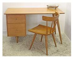 Los Angeles: Paul Mccobb Mid Century Modern Desk With Matching Chair  $999 - http://furnishlyst.com/listings/61368