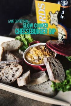 Slow Cooker Cheeseburger Dip | 29 Awesome Super Bowl Snacks You Can Make In A Slow Cooker