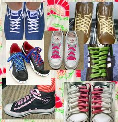Different ways to tie shoelaces