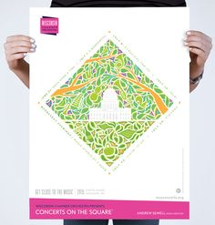 WCO Concerts on the Square Poster | Cricket Design Works