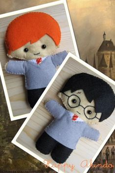 Harry Potter cute plush felt doll Harry Potter by HappyAkindo, $14.00