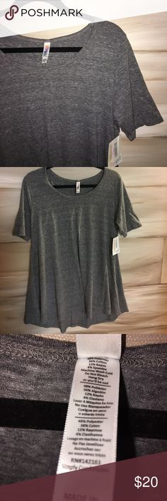 Lularoe Heathered Gray Perfect T Tee shirt material! Can be dressed up or down! LuLaRoe Tops