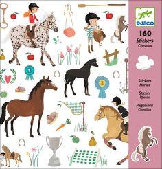 #Stickers #Horses by #Djeco paard stickers 160 stuks from www.kidsdinge.com…