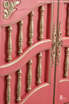 Modern Masters Champagne Metallic Paint Highlights on Furniture | Vintage Charm Restored