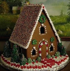 100 Gingerbread House Ideas to give your Christmas Party a Delicious Dose of Happiness - Hike n Dip Thinking about Gingerbread house decorating party? Then you have to have a look at these delicious and cute Gingerbread house ideas right here. Gingerbread House Designs, Gingerbread House Parties, Gingerbread Village, Gingerbread Decorations, Christmas Gingerbread House, Noel Christmas, Christmas Cookies, Christmas Crafts, Christmas Decorations