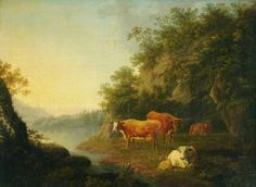 Landscape with Cattle, by Thomas Barker ~ late 18th / early 19th century
