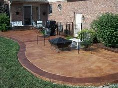 Bon Exterior Concrete Patio Stain Using Dual Tone Colors. SoyCrete Decorative Concrete  Stain.