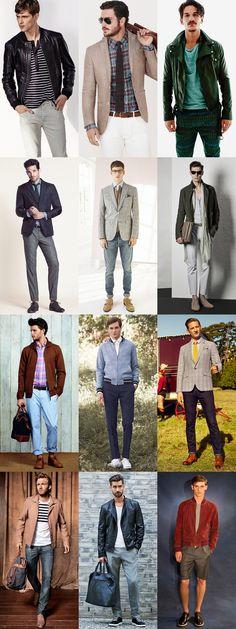 Men's Transitional Season Casual Outfits - Juxtaposing Winter and Summer Fabrics