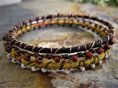 Four Directions Gypsy Stack Bangle Set