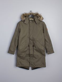 PRETTY GREEN FIXED LINED PARKA Jacket KHAKI