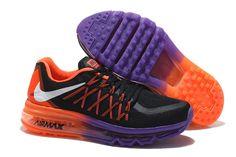 Meilleur Nike Air Max 2015 Femme Argenté Orange Chaussures De Running Pourpre  Noir