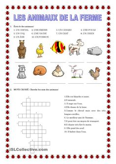 les animaux de la ferme French Teaching Resources, Teaching French, Fun Facts About Animals, French Worksheets, Core French, French Classroom, French Immersion, French Language Learning, Animal Activities