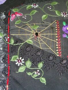 Shawkl: Spiderweb Tutorial - Crazy Quilt & Embroidery Designs by Kathy Shaw