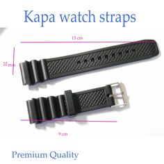 KAPA Mens Silicone Rubber Waterproof Divers Watch Strap Band PRO 22 mm  A5