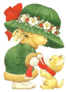 Illustration by Ruth Morehead Christmas Scenes, Christmas Pictures, Christmas Art, Vintage Christmas, Xmas, Sarah Kay, Cute Images, Cute Pictures, Mig E Meg