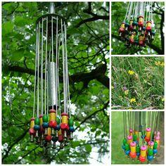 Windspiel aus Fahrradschrott / Wind chimes made of bicycle parts / scrap