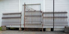 Wrought Iron Fence and Gate from Baltimore, Maryland c. 1870 from dixonsantiques on Ruby Lane