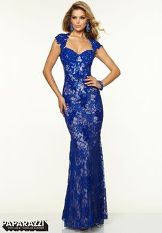 Prom Dresses / Gowns Style 97038: Stretch Lace with Beading http://www.morilee.com/prom/paparazzi/97038