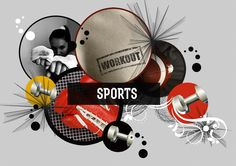 Sports collage by Sofia Langenskiold Geometric Shapes, The Past, Collage, Sports, Hs Sports, Collages, Dimensional Shapes, Collage Art, Sport