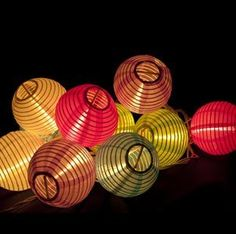 Set of 10 Multicolor Mini Oriental Style Nylon Lantern Plug-in String Lights     I always wanted to have some strung in my room. Just make sure you get indoor ones.
