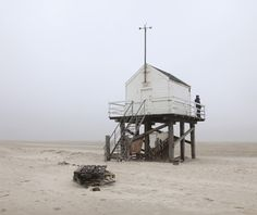 This island shack was built for men lost at sea. It's stocked with enough water and crackers to survive until found. Vlieland Island, Netherlands.