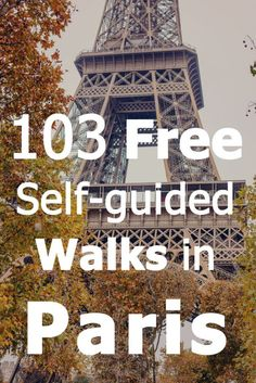 Self-guided walks in Paris. Here are 103 great FREE self-guided walks that we (and you!) can use when in Paris. We're going there in March and definitely plan on wearing out our shoes walking in the French capital. I hope others will find these suggestion