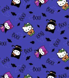 Holiday Inspirations Fabric Halloween Hello Kitty