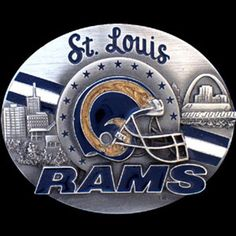 St. Louis Rams NFL Enameled Belt Buckle
