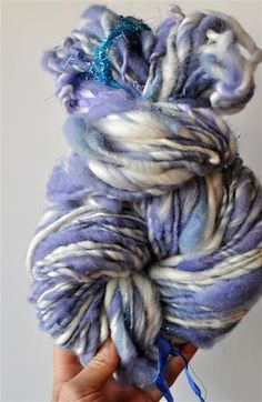 Hand spun yarn is my favorite. Particularly love working with super bulky hand spun wools